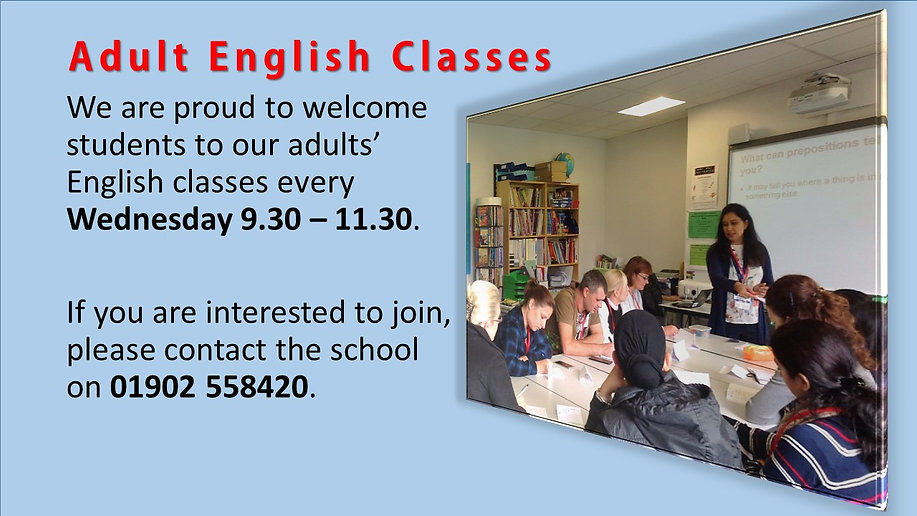 trial no 1 Adult English Classes website