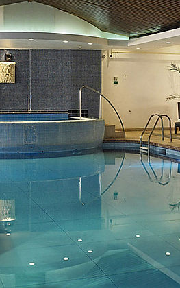 Hotel Swimming Pool with Palms