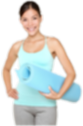 Lady Carrying a Exercise mat