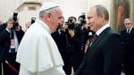 Incontro Papa Francesco, Matteo Renzi, Vladimir Putin