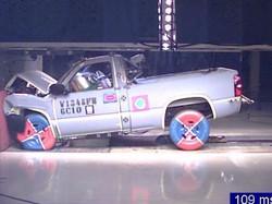 Physical vehicle crash simulation