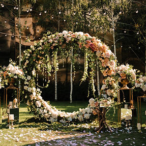 Wedding. Wedding ceremony. Arch. Arch, d