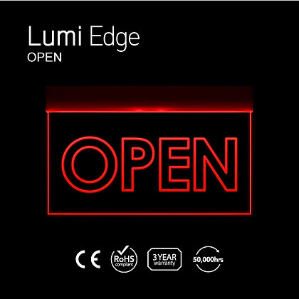 OPEN Lumi Edge Sign