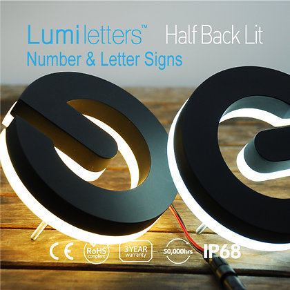 NES Lumi Letter & Number Signs Type : Half Back Lit  Height : 6inch 9inch 12inch
