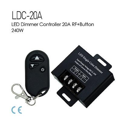 LED Dimmer Controller 3Buttons 20A 12V 24V