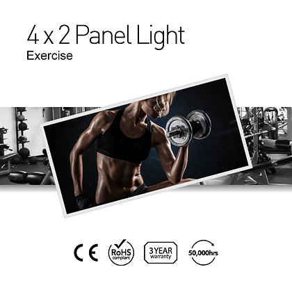 Exercise 4' x 2' LED Panel Lights with Printing