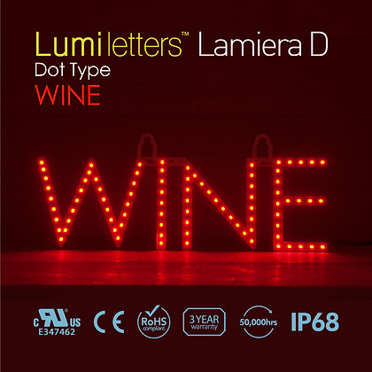 Lumi Letters Lamiera Wine Dot Type Red