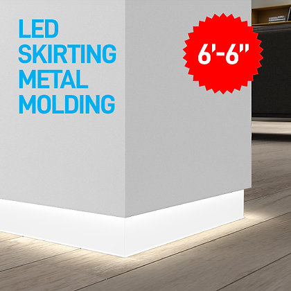 "LED Skirting Metal Moulding 78"" Length"