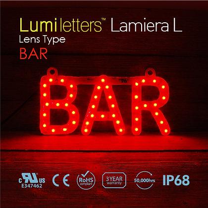 "Lumi Letters Lamiera Lens Type ""Bar"""