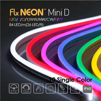 Flx Neon LED 24v Mini Single 10 Color 9W/m(2.8w/ft)