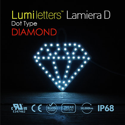 "Lumi Letters Lamiera Dot Type ""Diamond"""