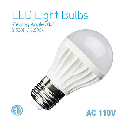 LED Bulb Light  E27 Base AC110V