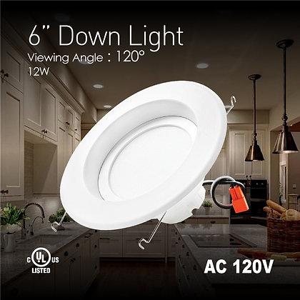 6 in. LED Downlight - 11 Watt - 75 Watt Equal - Halogen Match