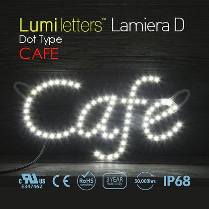 "Lumi Letters Lamiera Dot Type ""Cafe"""