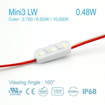 NC LED MINI3 Wide Angle 2700k 6500k 10000k 0.48w 12v