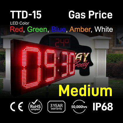 "15"" High Outdoor LED TIME Temp Sign Digit LED electronic clock"