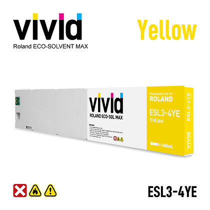 440ml Roland Eco Solvent MAX Compatible Ink Cartridges Yellow