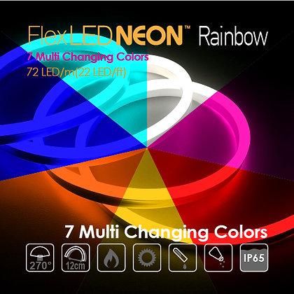 Flex Neon LED 24V Multi Changing 7 Color 14.4W/m(4.5W/ft)