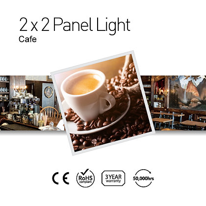 Cafe 2' x 2' LED Panel Lights with Printing