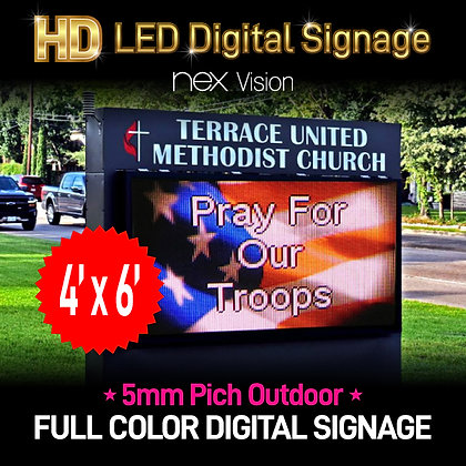 Outdoor HD LED Digital Signage 4' x 6'