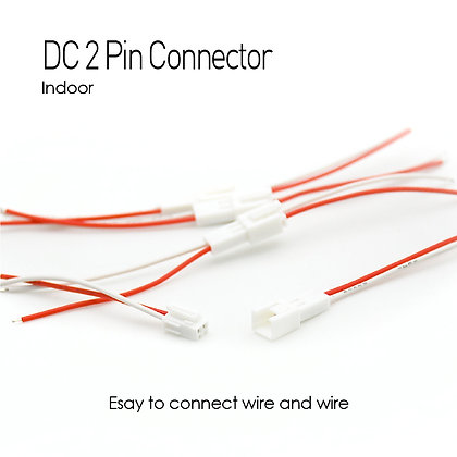 LED Wire Indoor DC 2P Connector x 5 set
