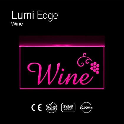 Wine Lumi Edge Sign