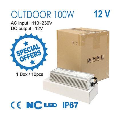 NC LED 100W - 12V Outdoor Power Supply 1 Box(10pcs)
