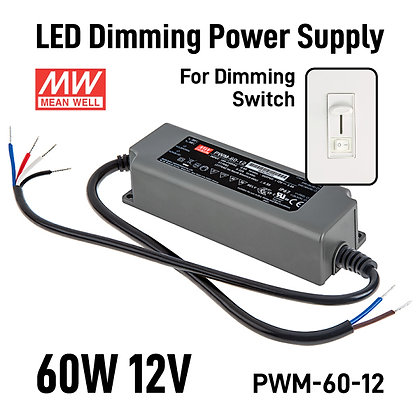 LED Dimming Power Supply 60W 12V