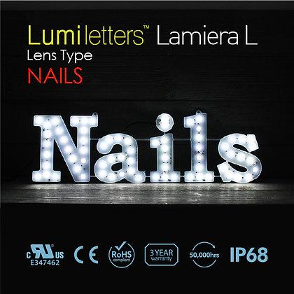 """Lumi Letters Lamiera Lens Type """"Nails"""""""