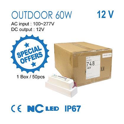 NC LED Power Supply Outdoor 60w-12v AC InPut 100~277v IP67