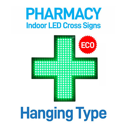 Indoor Pharmacy Cross LED Sign