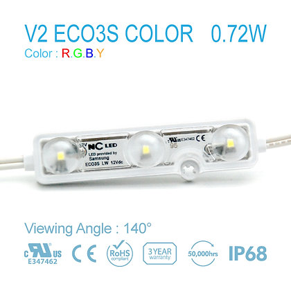 NC LED V2 ECO3S LW2 Color Wide Angle 0.72W 12V 25Ft IP68