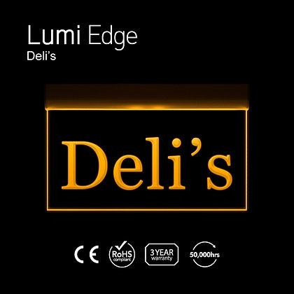 Deli's & 2 Line Lumi Edge Sign