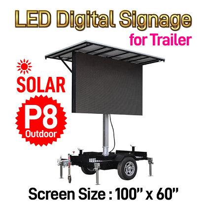 Solar P8 Outdoor LED Digital Billboard Trailer