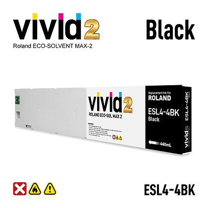 440ml Roland Eco Solvent MAX-2 Compatible Ink Cartridges Black