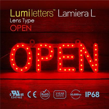 """Lumi Letters Lamiera Lens Type """"Open"""""""