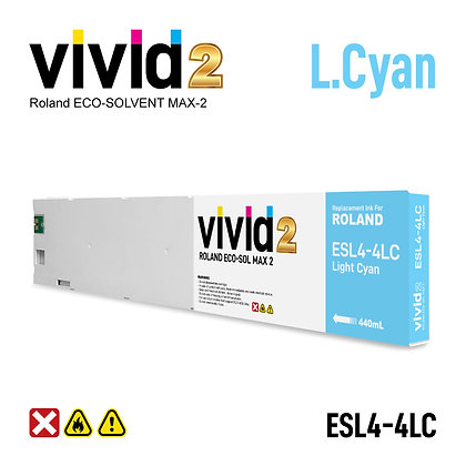 440ml Roland Eco Solvent MAX-2 Compatible Ink Cartridges Light Cyan