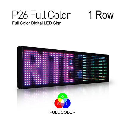 NES LED Sign Board Full Color Pitch26 19inch Height