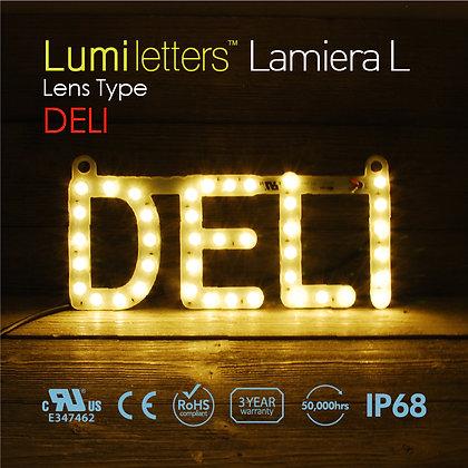 "Lumi Letters Lamiera Lens Type ""Deli"""