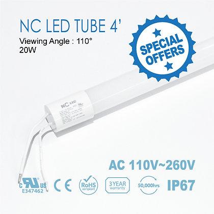 Nc LED T8 LED Tube 4ft 18W Input 100~240VAC - 1 Box(50pcs)