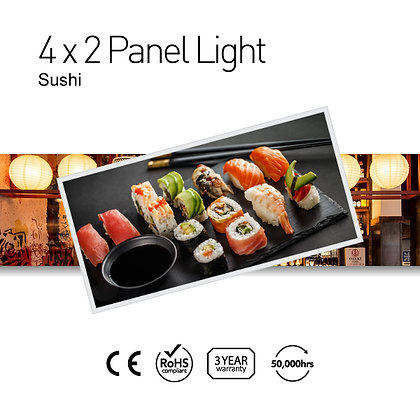 Sushi 4' x 2' LED Panel Lights with Printing