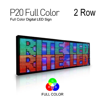 NES LED Sign Board Full color Pitch20 28inch Height 2Row