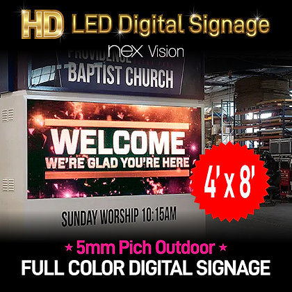 Outdoor HD LED Digital Signage 4' x 8'