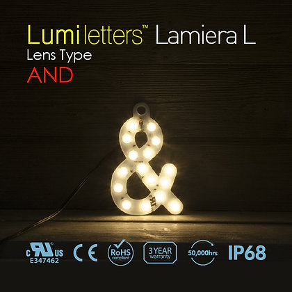 "Lumi Letters Lamiera Lens Type ""And"""