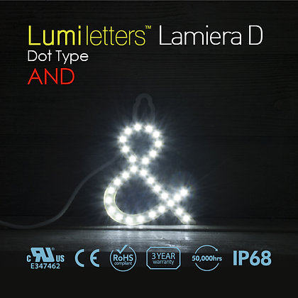 """Lumi Letters Lamiera Dot Type """"And"""""""