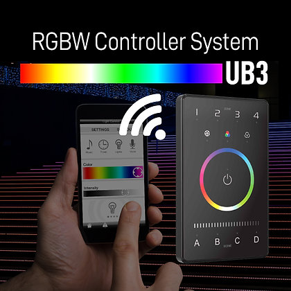 UB3 RGBW Controller System Intelligent Touch Panel