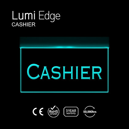 CASHIER Lumi Edge Sign