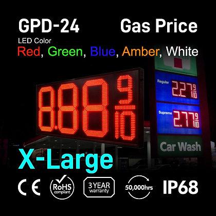 "Gas Price Display 24"" High Digit Number Red Green"