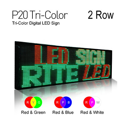 NES LED Sign Board 3color Pitch20 28inch Height 2Row