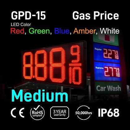 "Gas Price Display 15"" High Digit Number Red Green"